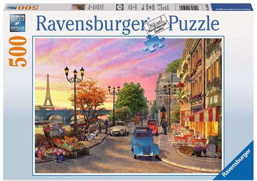 Avondsfeer in Parijs Puzzel (500 stukjes)