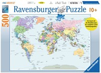 Cito - Wereldkaart Puzzel (500 stukjes)