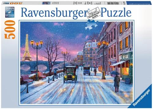 Winter in Parijs puzzel (500 stukjes)-1