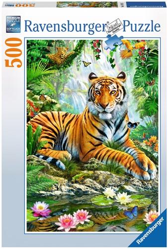 Tijger In De Jungle Puzzel (500 stukjes)