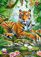 Tijger In De Jungle Puzzel (500 stukjes)-2