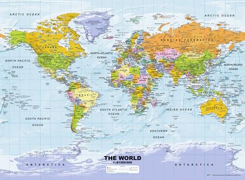 Politieke Wereldkaart (500 stukjes)
