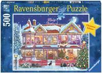 Het Kersthuis puzzel (500 stukjes)-1