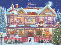 Het Kersthuis puzzel (500 stukjes)-2