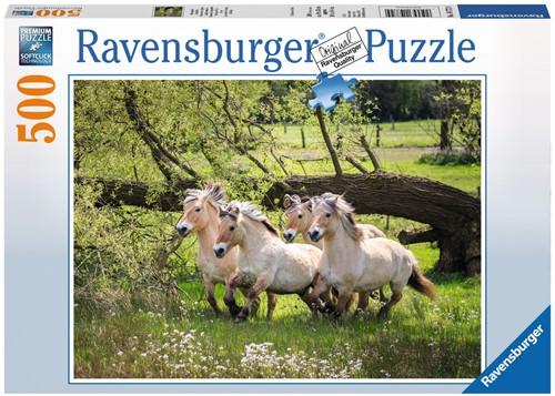 Noorse Fjordenpaarden Puzzel (500 stukjes)-1