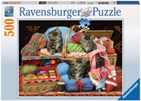 Wollige Katjes Puzzel (500 stukjes)-1