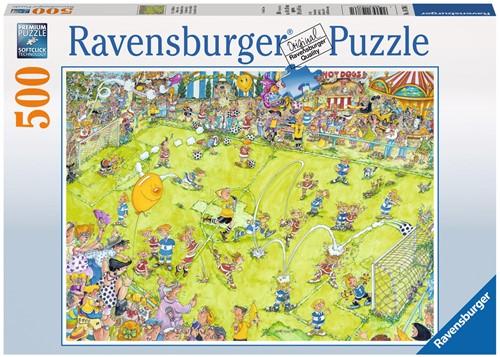 Voetbalwedstrijd Puzzel (500 stukjes)-1