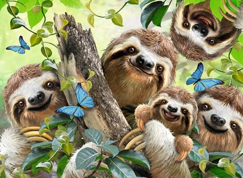 Luiaard Selfie Puzzel (500 stukjes)