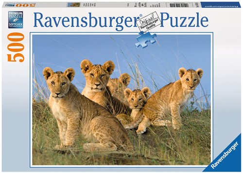 Leeuwenwelpen Puzzel (500 stukjes)-1