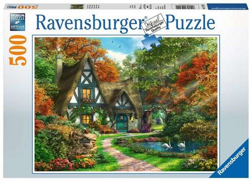 Cottage in de Herfst Puzzel (500 stukjes)