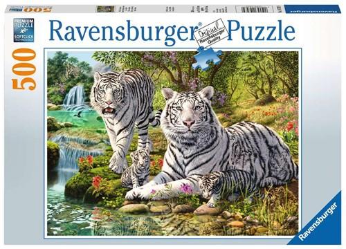 Witte Tijgers Puzzel (500 stukjes)