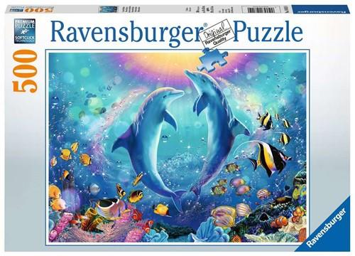 Dansende Dolfijnen Puzzel (500 stukjes)
