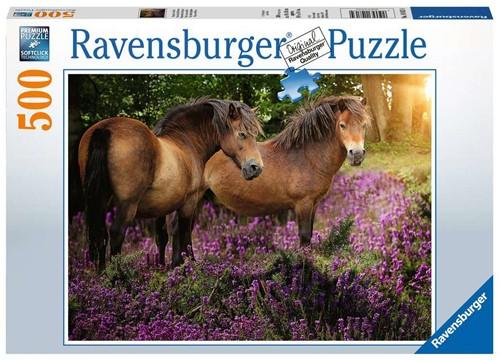 Pony's Tussen de Hei Puzzel (500 stukjes)