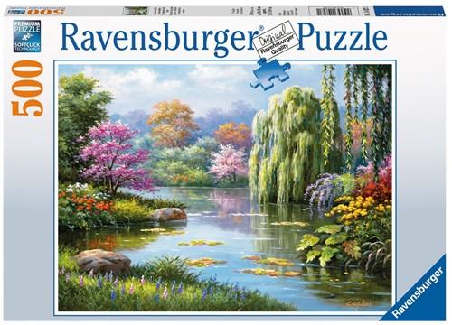 Romantiek Bij De Vijver Puzzel (500 stukjes)