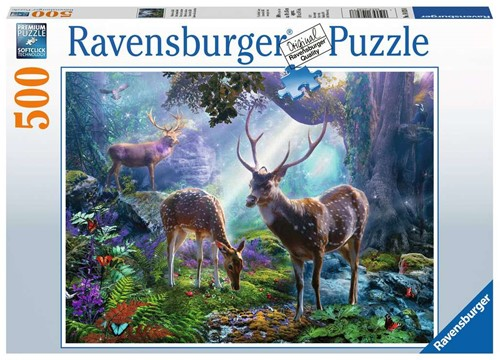 Herten in het Bos Puzzel (500 stukjes)