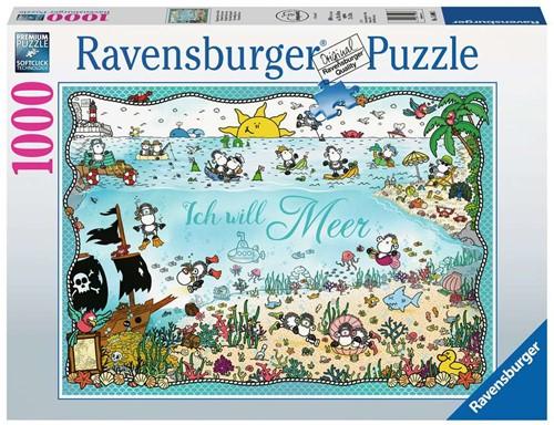 Sheepworld in de zee Puzzel (1000 stukjes)