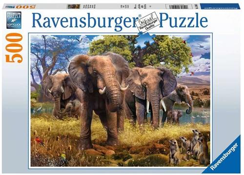 Olifantenfamilie Puzzel (500 stukjes)