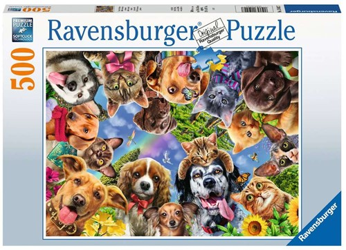 Dieren Selfie Puzzel (500 stukjes)