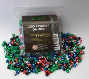 Dobbelstenen 5mm - Assorti (1000 stuks)