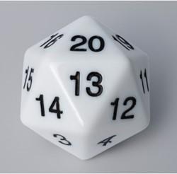 20-zijdige Dobbelsteen - 55mm Wit