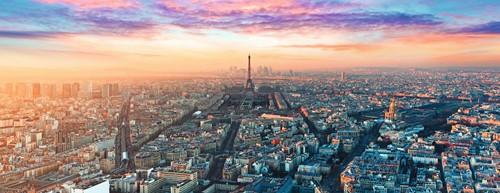 Parijs in het Ochtendlicht - Panorama Puzzel (1000 stukjes)-2