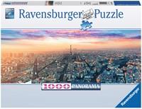 Parijs in het Ochtendlicht - Panorama Puzzel (1000 stukjes)-1