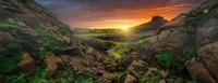 Zon over IJsland - Panorama Puzzel (1000 stukjes)