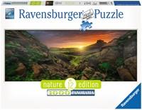 Zon over IJsland - Panorama Puzzel (1000 stukjes)-1