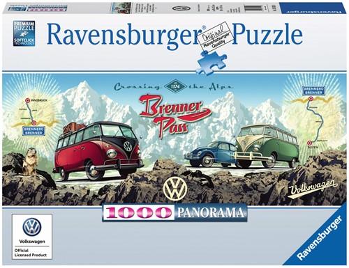 VW Bulli op de Brennerpas Puzzel (1000 stukjes)