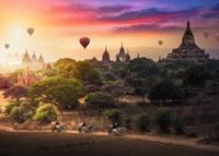 Luchtballonnen Myanmar Puzzel (1000 stukjes)-2