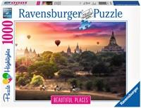Luchtballonnen Myanmar Puzzel (1000 stukjes)