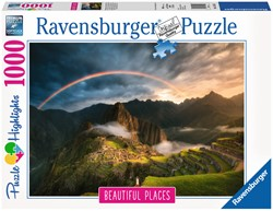 Regenboog bij Machu Picchu Puzzel (1000 stukjes)