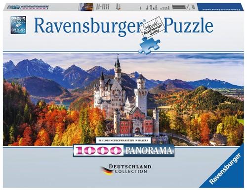 Slot Neuschwanstein Panorama Puzzel (1000 stukjes)