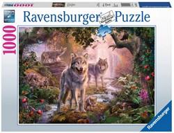 Wolvenfamilie In De Zomer Puzzel (1000 stukjes)