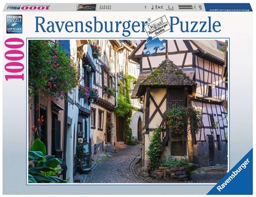 Eguisheim in de Elzas Puzzel (1000 stukjes)