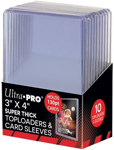 Super Thick 130PT Toploader with Thick Card Sleeves