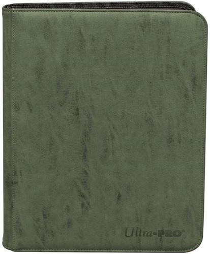 Zippered Suede 9-Pocket Pro-Binder - Emerald