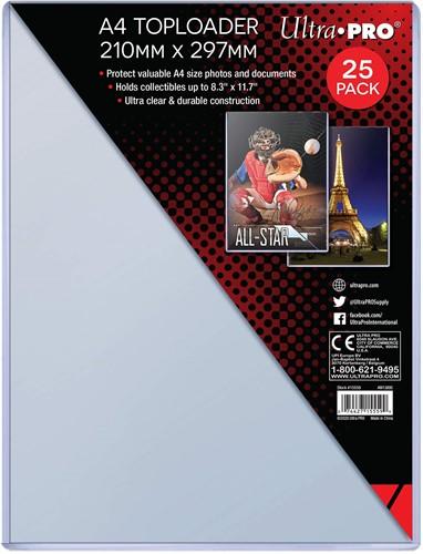 A4 Toploader 25ct (210mm x 297mm)