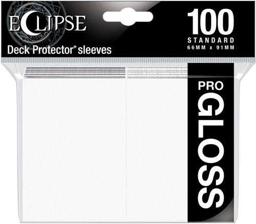 Standard Sleeves Gloss Eclipse - Wit (100 stuks)