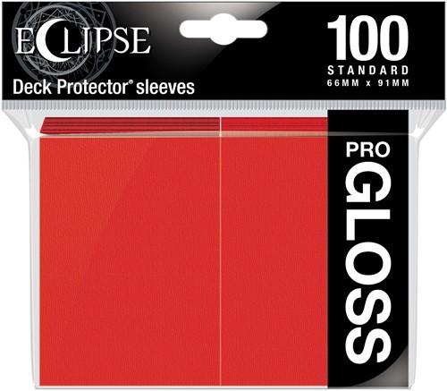 Standard Sleeves Gloss Eclipse - Rood (100 stuks)