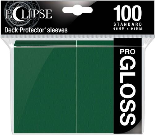 Standard Sleeves - Gloss Eclipse Forest Green (100 stuks)