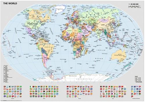 Wereldkaart Puzzel (1000 stukjes) (Doos ingedeukt)-2
