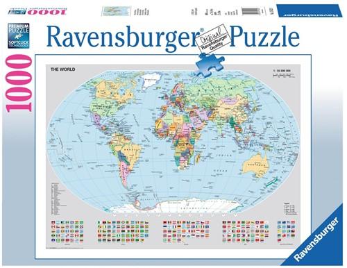 Wereldkaart Puzzel (1000 stukjes)