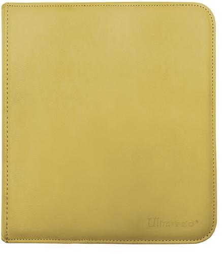 Zippered 12-Pocket Pro-Binder - Geel