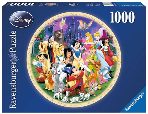 Disney Wonderful World Ronde Puzzel (1000 stukjes)
