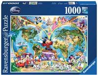 Disney's Wereldkaart Puzzel (1000 stukjes)