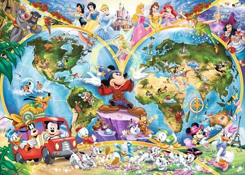 Disney's Wereldkaart Puzzel (1000 stukjes)-2