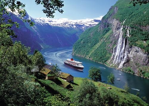 Noorse Fjord Puzzel (1000 stukjes)-2