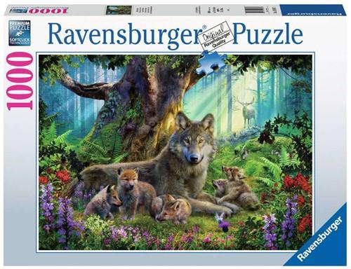 Familie Wolf in het Bos Puzzel (1000 stukjes)