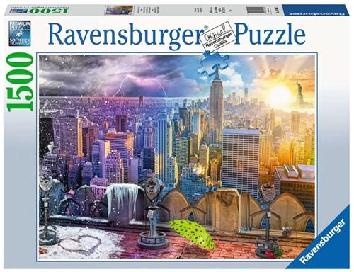NY Skyline Dag en Nacht Puzzel (1500 stukjes)